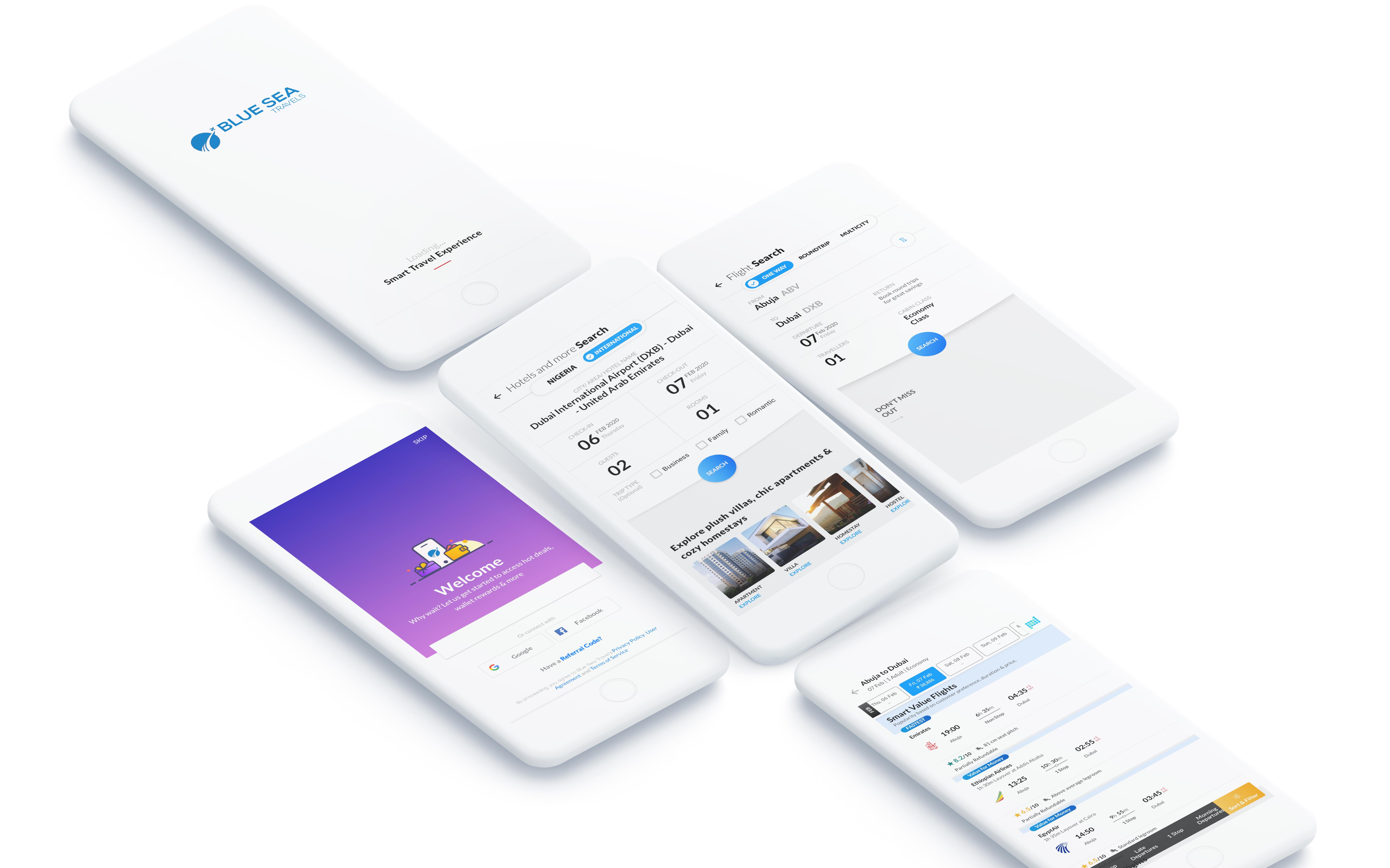 Blue Sea Travels Web App